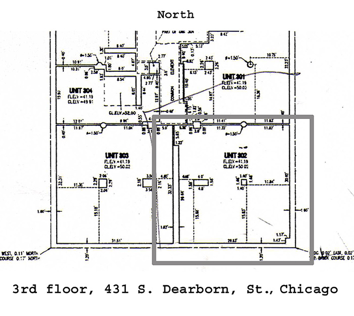3rd floor floor plan manhattan building 431 s dearborn for Floor plans manhattan apartment buildings